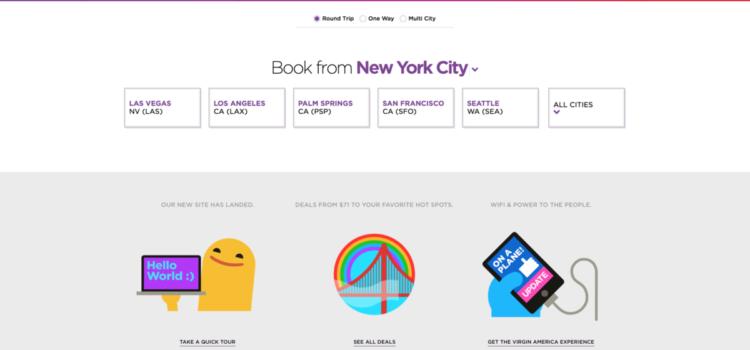 Virgin America reinvents online booking!