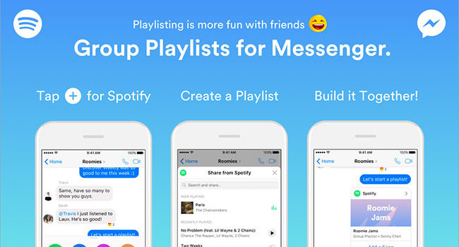 Spotify: Group playlist for Messenger